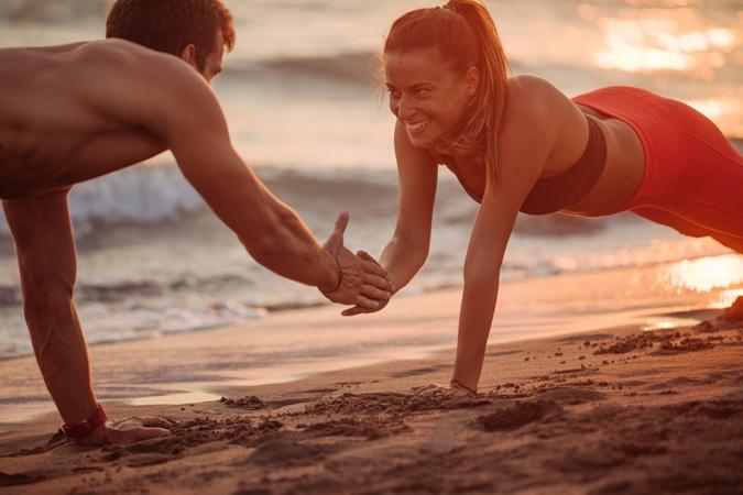 Partner Workout im Urlaub