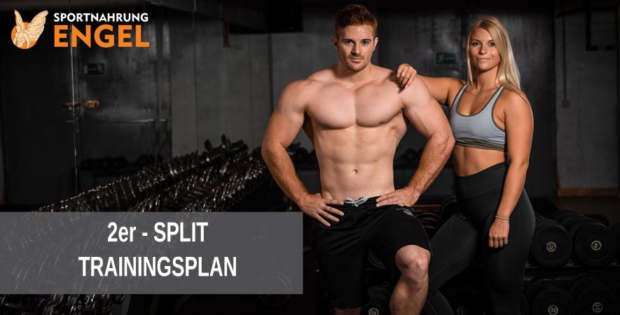 2er Split Trainingsplan zum Muskelaufbau