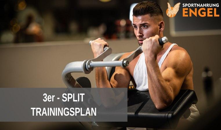 3er Split Trainingsplan zum Muskelaufbau