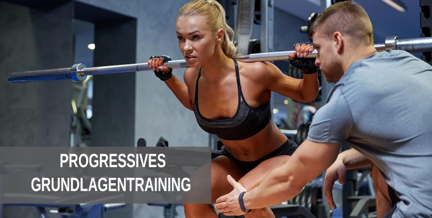 Nach einem Ganzkörpertraining empfiehlt sich für Fitness Anfänger ein progressives Grundlagentraining
