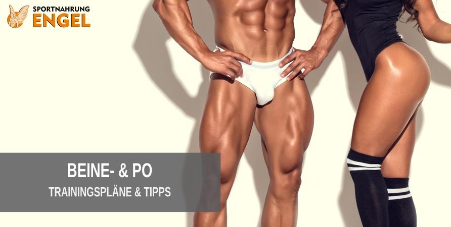 Tipps und Tricks sowie Trainingspläne für Bein- und Pomuskulatur