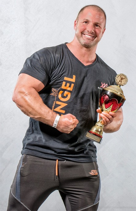 Christian Engel, Fitness Model und Inhaber von Sportnahrung Engel