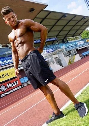 Sportnahrung-Engel Athlet Edgar Kisler beim Cardiotraining