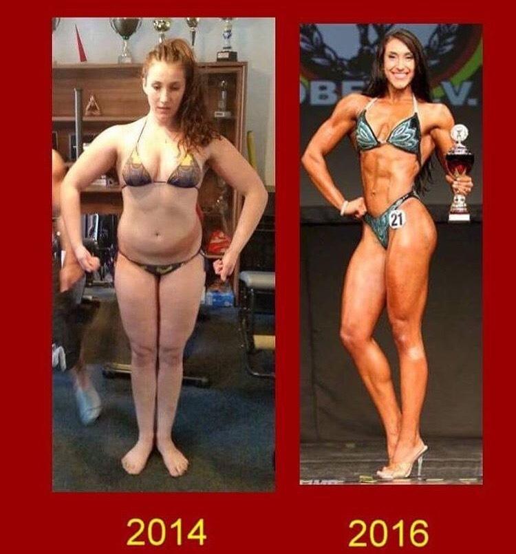 Transformationen Bodyfitness Athletin Jennifer Ullmer