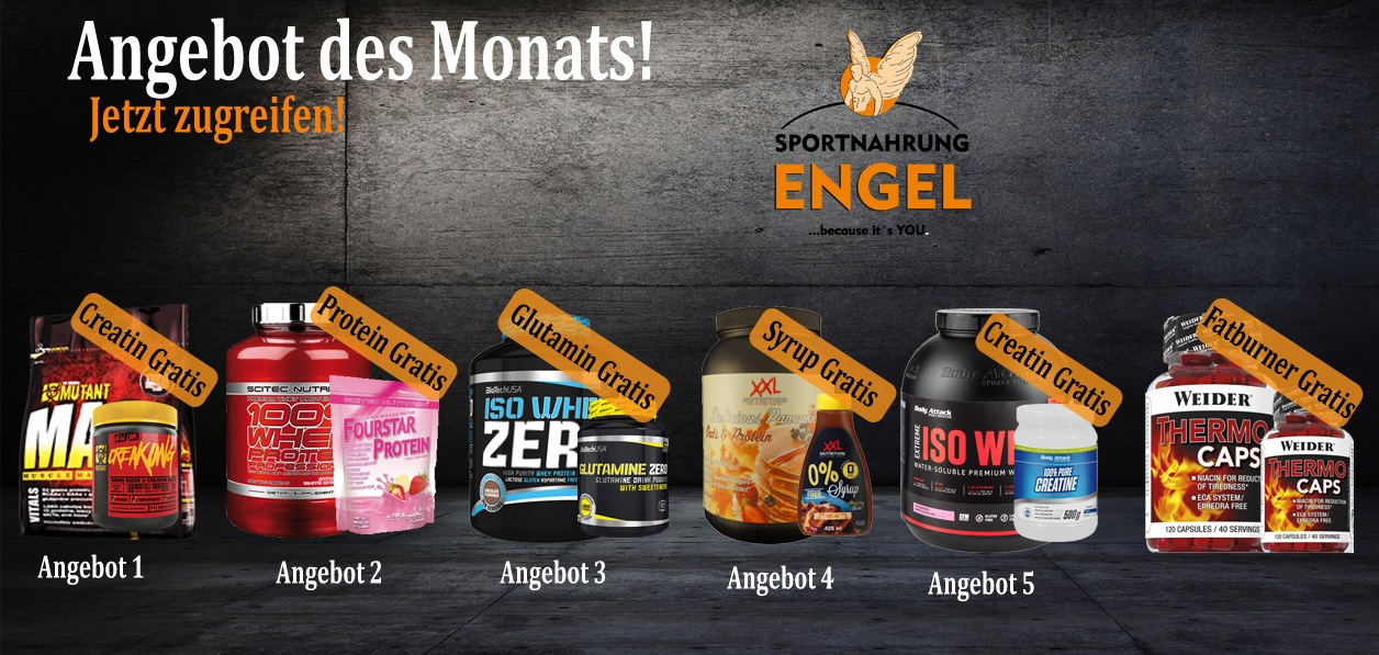 Angebot des Monats März - Sportnahrung mit attraktiven Rabatten bei Sportnahrung-Engel